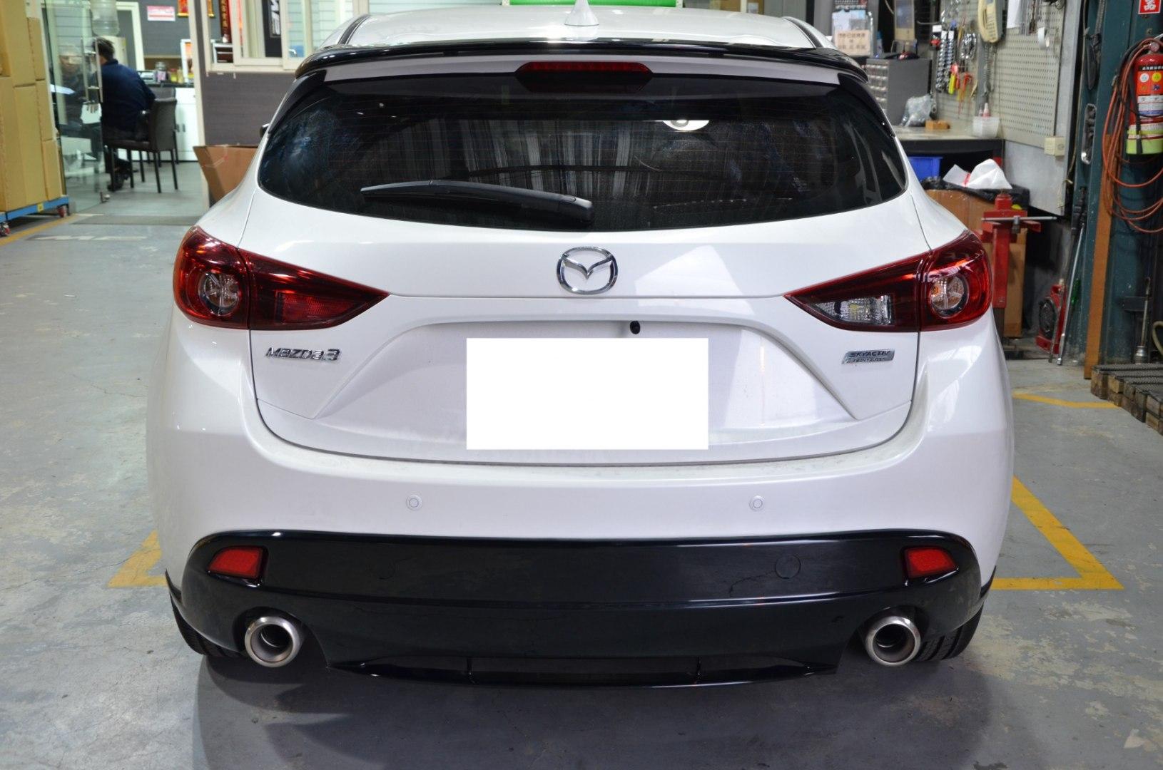 Dokładka zderzaka tylnego Mazda 3 5D 14- MZ Style - GRUBYGARAGE - Sklep Tuningowy